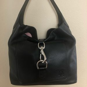 Black Leather. Dooney and Bourke Handbag
